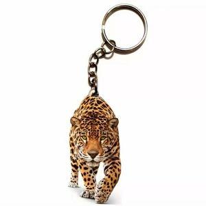 New Double Sided Acrylic Leopard Keychain.